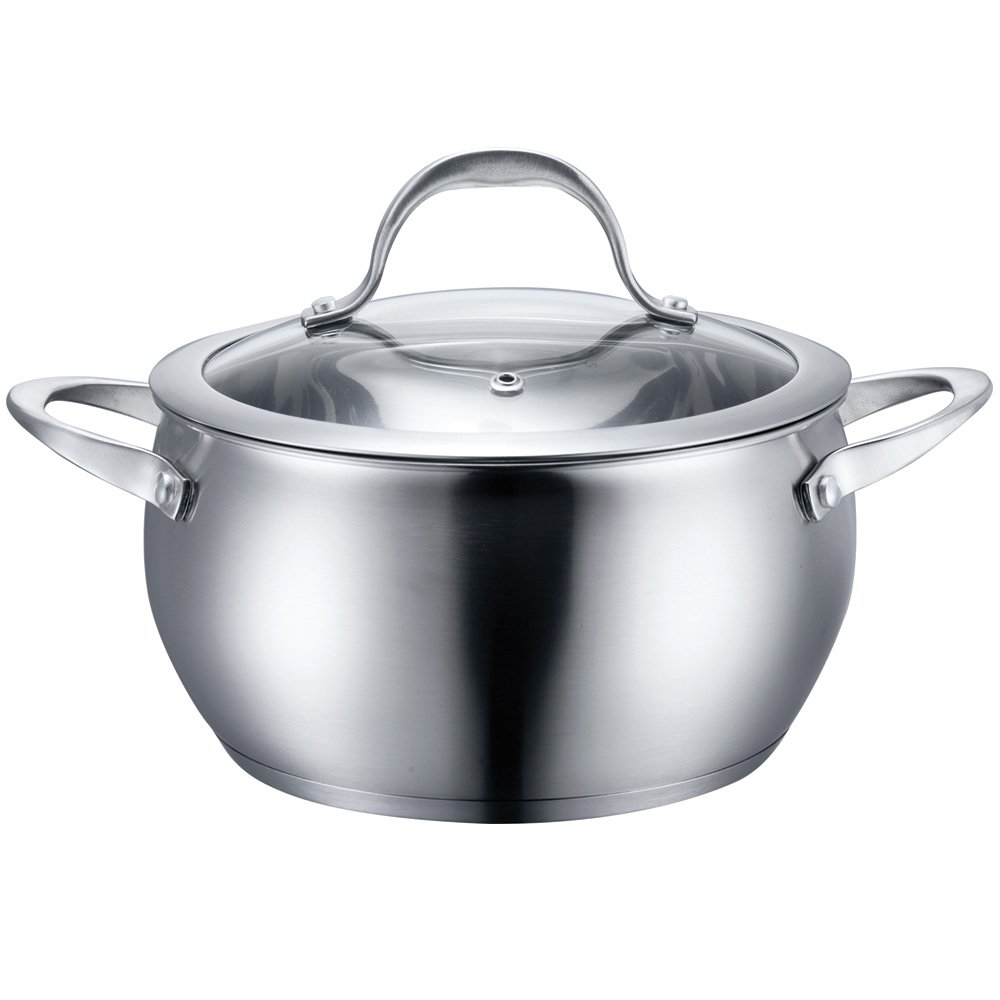 Stainless Steel Cookware 3 Quart Sauce Pot with Lid