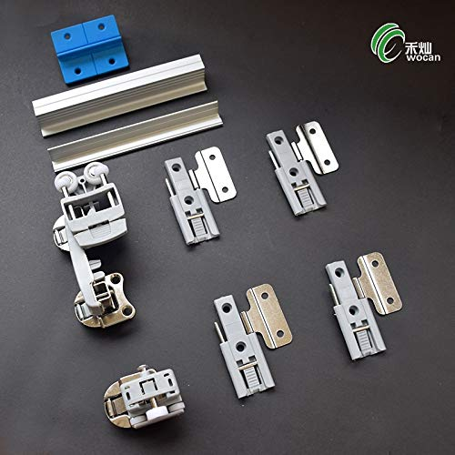 Ochoos The Wardrobe Folding Door Hardware Accessories Push Pull Pulley Hanging Wheel Hanging Sliding Door Moving Wheel Cabinet