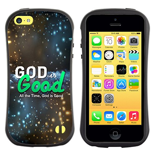 DREAMCASE Citation de Bible Silicone et Rigide Coque Protection Image Etui solide Housse T¨¦l¨¦phone Case Pour APPLE IPHONE 5C - GOD IS GOOD