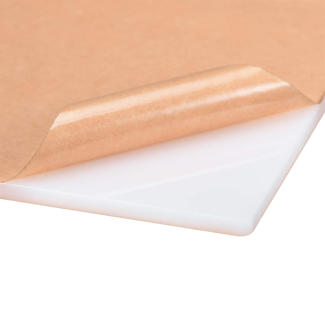 297x210mm uxcell White Cast Acrylic Plexi Glass Sheet,12x 8 Square Panel 3mm Thick,Plastic Plexi Glass Board for Picture Frames Sign Holders Craft