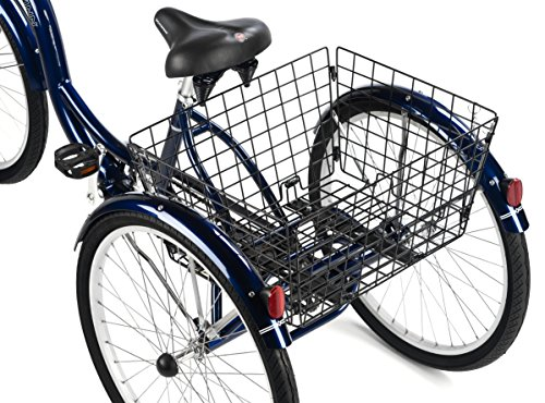 Schwinn Hampton 26-Inch Tricycle, Dark Blue, 16-Inch Frame