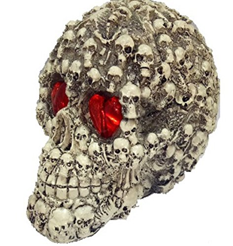 ShonanCos Dread Sound-Activated LED Skull Head Halloween Decoration (Type3)