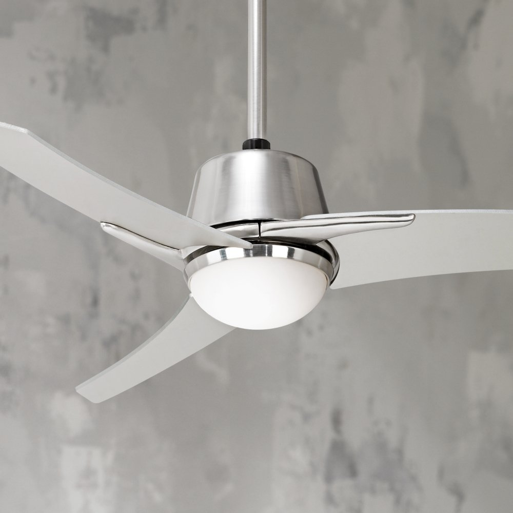Casa vieja matrix 48 brushed nickel ceiling fan with light casa vieja matrix 48 brushed nickel ceiling fan with light lighting products amazon aloadofball Image collections