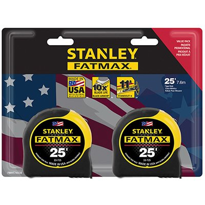 Stanley Consumer Tools FMHT74038 25' Fatmax Tape Measure (2 Pack) by Stanley