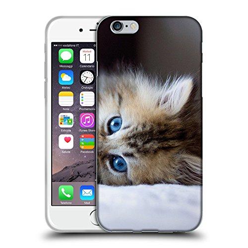 """Just Phone Cases Coque de Protection TPU Silicone Case pour // V00004187 chaton aux yeux bleus Aborable // Apple iPhone 6 6S 6G PLUS 5.5"""""""