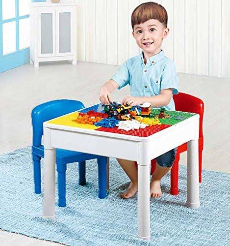 Brigamo Tavolo 3 in 1 con 4 Pannelli integrati per Giocattoli e sedie