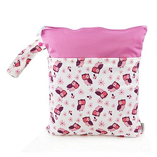 1 PC Baby Wet/Dry Bag Splice Cloth Diaper Waterproof Bags wi