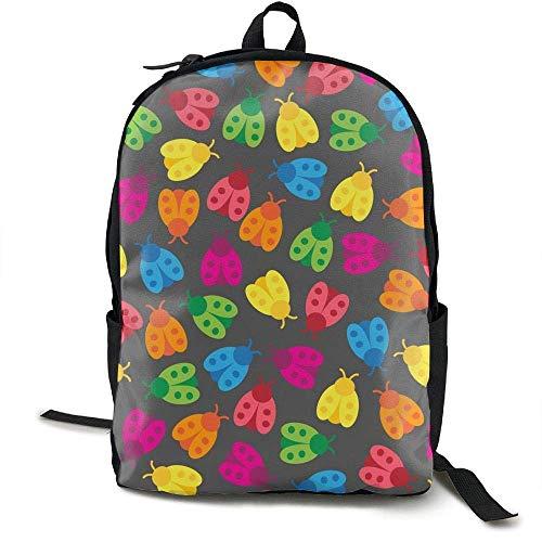 (DKFDS Backpacks Rainbow Ladybugs)