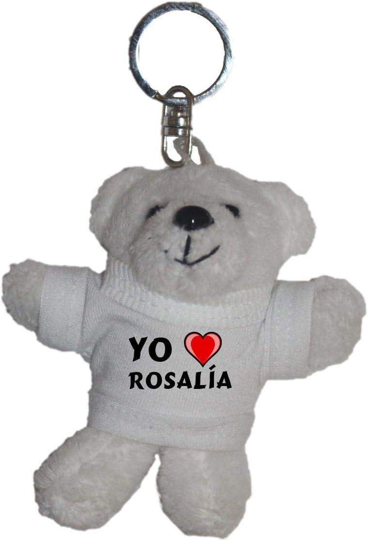Shopzeus Llavero de Oso Polar de Peluche con Amo Rosalía en la ...