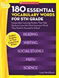 img - for 180 Essential Vocabulary Words for 5th Grade: Independent Learning Packets That Help Students Learn the Most Important Words They Need to Succeed in School (Best Practices in Action) book / textbook / text book