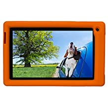 Bobj Rugged Case for RCA Voyager III and Voyager II 7-inch - BobjGear Custom Fit - Patented Venting - Sound Amplification - BobjBounces Kid Friendly (Outrageous Orange)