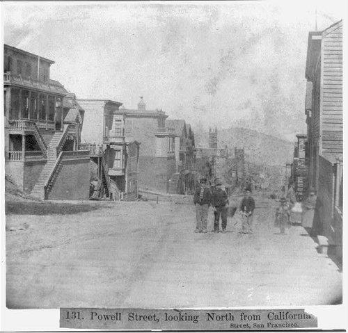Photo: Powell Street,looking North from California Street,San - Street Powell Ca Francisco San