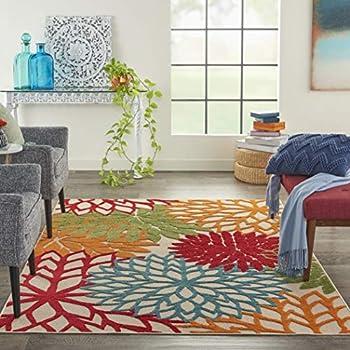 Amazon Com Shaw Al Fresco Floral Indoor Outdoor Rug 5