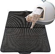 Cat Litter Mat Trapper Honeycomb Anti Tracking Caseeto Kitten Litter Box Mat Anti-slip Waterproof Washable
