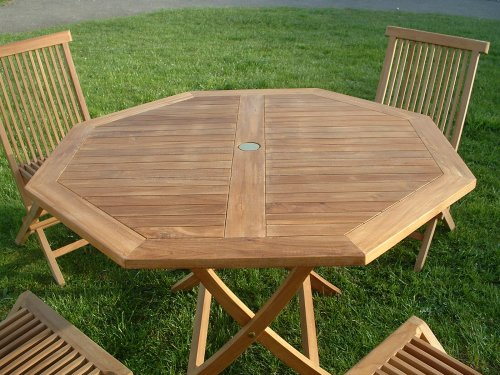Beautiful table jardin teck octogonale contemporary awesome interior home satellite - Table de jardin octogonale ...