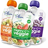 Plum Organics Mighty Veggie, Organic Toddler Food, Variety Pack, 4 ounce pouch (Pack of 18)""