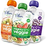 omega 3 6 caps - Plum Organics Mighty Veggie, Organic Toddler Food, Variety Pack, 4 ounce pouch (Pack of 18)