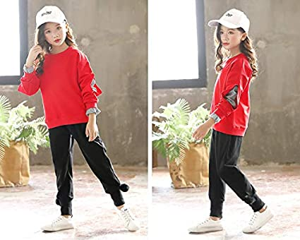 Little Girls Kids Long Sleeve Top /& Pant Leggings Clothes Set Outfit