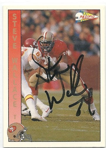 (1992, Steve Wallace, San Francisco 49ers, Signed, Autographed, Pacific Football Card, Card # 285, a COA Will Be Included)