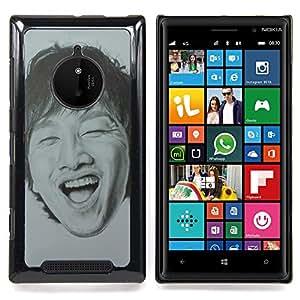- Chinese Portrait Man Laughing Teeth - - Monedero pared Design Premium cuero del tir???¡¯???€????€???????????&A
