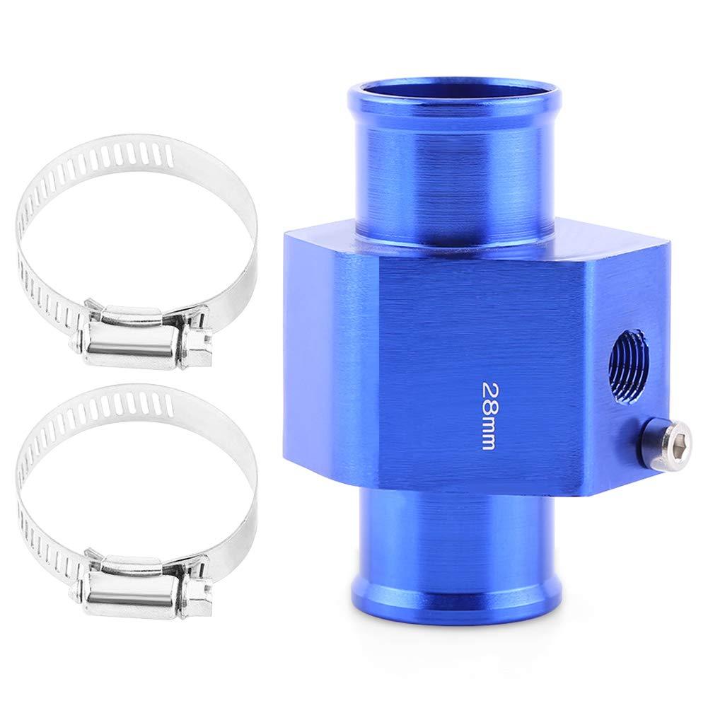 VGEBY Acqua Temp Sensore di Temperatura del Tubo con 2 Fascette Comune Gauge Radiatore Tubo Adattatore Blu 26-40MM ( Colore : 34MM )