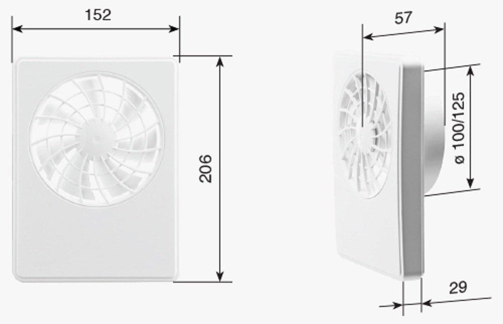 Nachlauf//Einschlatverz/ögerung Dauerlauf//Intellektuelle Steuerung spezielle Ausf/ührung//Temperatursensor Wohnraum Ventilator Badl/üfter iFAN Celcius//V 2