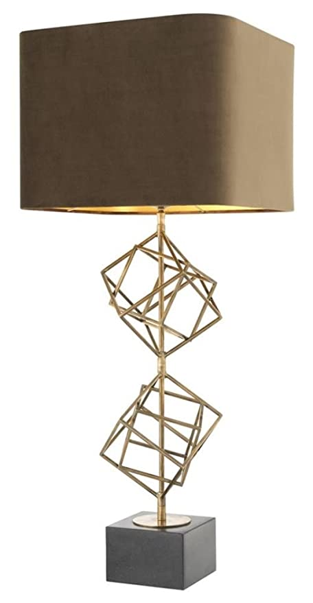 Casa Padrino lámpara de Mesa Vintage latón/marrón 40 x H. 98 cm ...