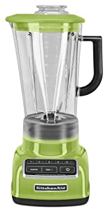 KitchenAid KSB1575GA 5-Speed Diamond Blender with 60-Ounce BPA-Free Pitcher - Green Apple (Renewed)
