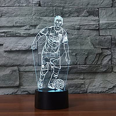 3D Night Light Table Desk Illusion Lamp 7 Colors Change Decor Atmosphere LED Lamps with USB Cable Smart Touch Button Control