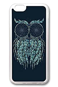 iPhone 6 Cases, Personalized Protective Soft Rubber TPU Clear Case Cover for New iPhone 6 4.7 inch Dream Catch Owl