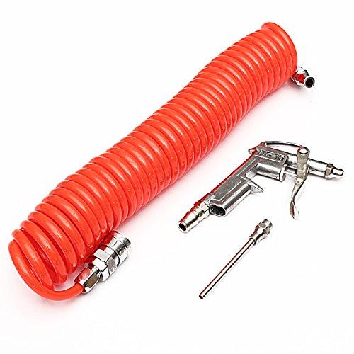 Air Blow Dust Compressor Blower Spray Gun Tools Recoil Coiled Nozzle