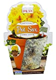 Misco Home and Garden Modern Pot Sox Flowerpot Cover, 4-Inch, Marbled Stone