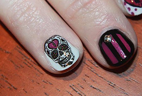 Amazon Sugar Skull Nail Art Day Of The Dead Decals Assortment