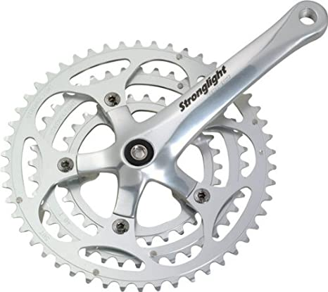 Silver Alloy Cranks Stronglight Impact Triple Chainset Silver Dural Alloy Chainrings
