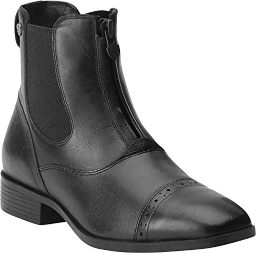 ARIAT Damen Reitstiefelette CHALLENGE SQUARE TOE Zip PADDOCK (mit Reißverschluß vorne), schwarz, 5.5 (38.5)