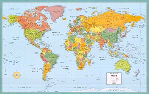 Cosmopolitan Maps Wall (Rand McNally World Paper Map: Brightly Colored 52 X 34 (Cosmopolitan Wall Maps))