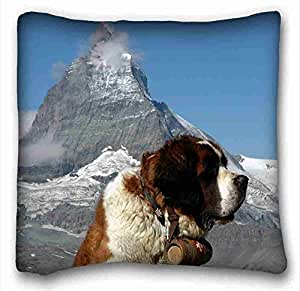 Custom Characteristic Animal Custom Cotton & Polyester Soft Rectangle Pillow Case Cover 16x16 inches (One Side) suitable for X-Long Twin-bed