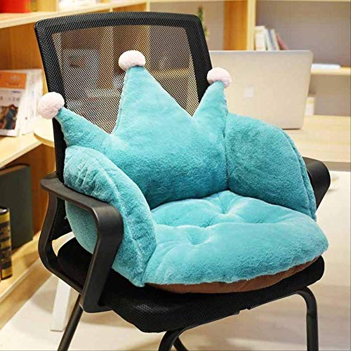 Cojin de asiento para comodidades, precioso cojin de asiento de silla de piel de conejo de imitacion de dibujos animados, para oficina Espesar cojin de asiento Sofa para el hogar 50x40x40cm verde