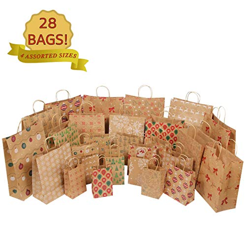 Expert choice for christmas kraft gift bags bulk