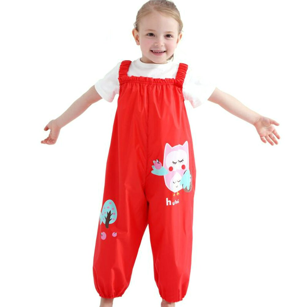 Happy childhood Toddler Boys Girls Lightweight Waterproof Rain Pants Kids Favorite Bright Color Overalls