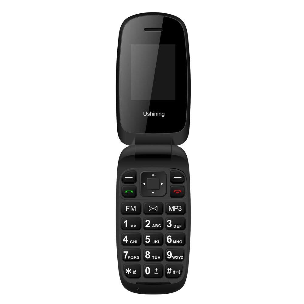 Teléfono Móvil con Tapa para Personas Mayores, Teclas Grandes, gsm...