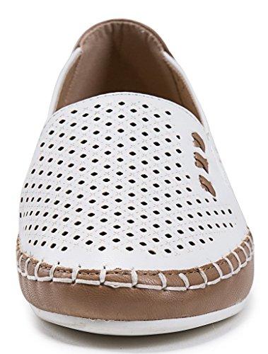 AgeeMi Shoes Mujeres Colores Surtidos Sin Cordones Puntera Cerrada de Salón Beige