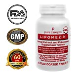 Cheap LIPOMEZIN Cholesterol Lowering High Quality Supplement Natural Reduction of LDL (Bad) Cholesterol Helps Maintain Healthy Heart and Brain Functions (60 Film Coated Tablets)