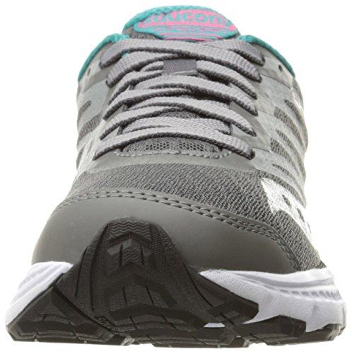 Saucony Powergrid eje de la mujer running Shoe gris/Tea/rosado