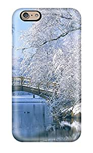 Premium Protection Winter Scenery Park Bridge Water Snow Trees Kids Jackets Dresses Shoes Vacations Season Coats Fall F Nature Winter Case Cover For Iphone 6- Retail Packaging