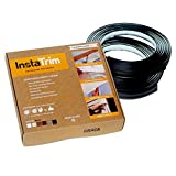 InstaTrim - Universal, Flexible, Adhesive Trim Solution - Cover Gaps Between Walls, Floors, Ceilings, and More (Black), Pack of 2