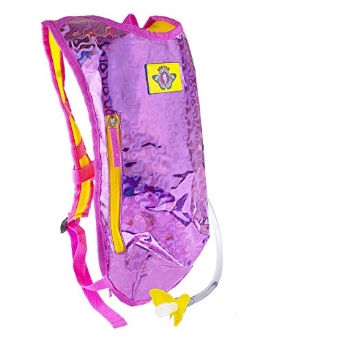 Dan-Pak Hydration Pack 2l- Retro Raver Pink - Holographic Pink/Yellow