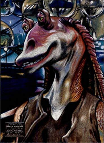 2018 Topps Star Wars Galaxy Non Sport Trading Card #14 Jar Jar Binks and Otoh Gunga Matt Maldonado Official Collectible Entertainment Card