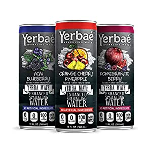 Yerbae Enhanced Sparkling Water, Natural Energy Drink with Yerba Mate Tea, Whole 30 and Keto Diet Friendly (Variety 12-pack) 3