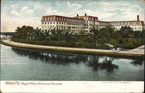Royal Palm Hotel and Grounds Miami, Florida Original Vintage Postcard